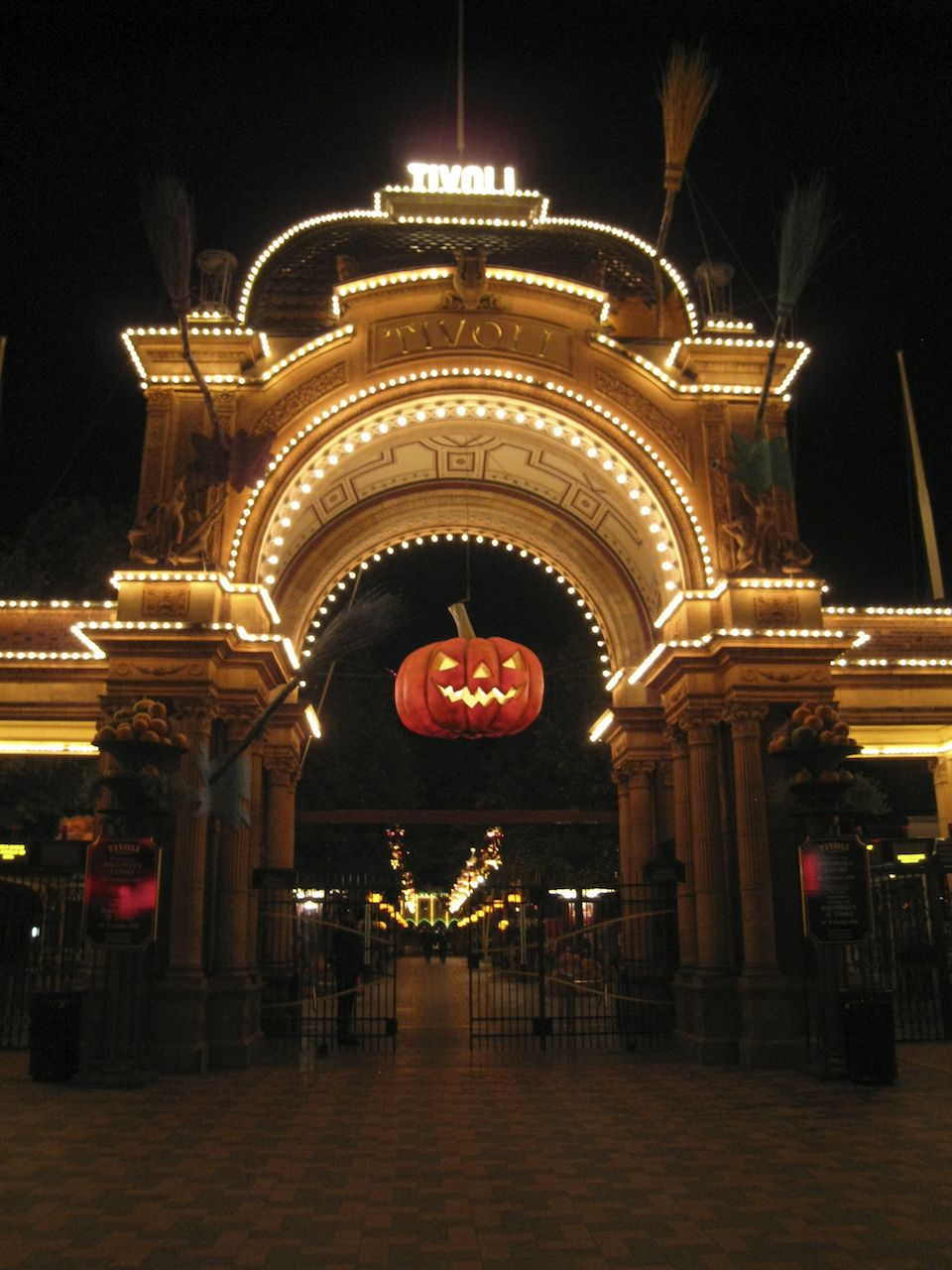 Tivoli Gardens, all decked out for Halloween.
