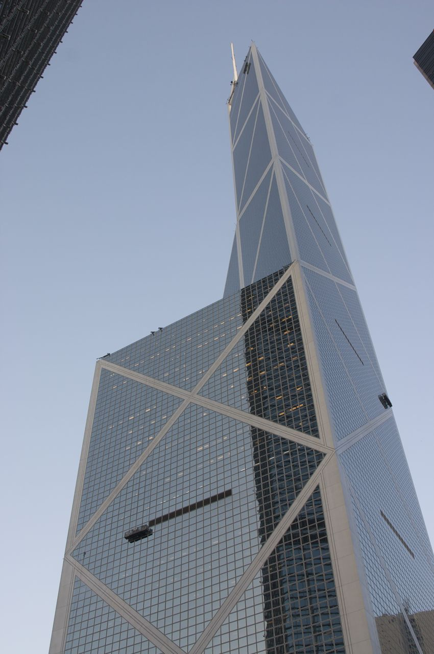 Bank of China Tower from the ground