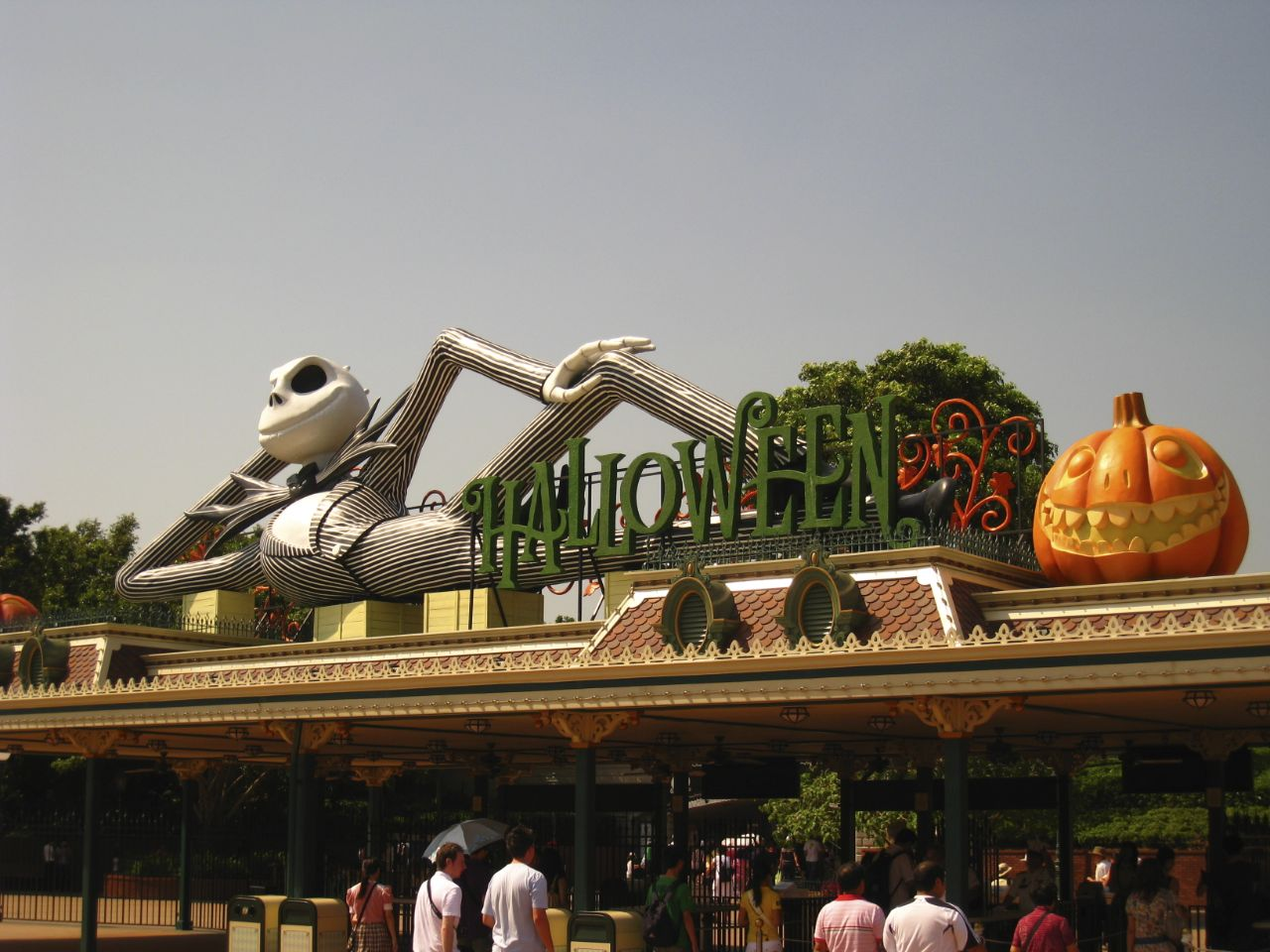 The Main gate with a Halloween theme