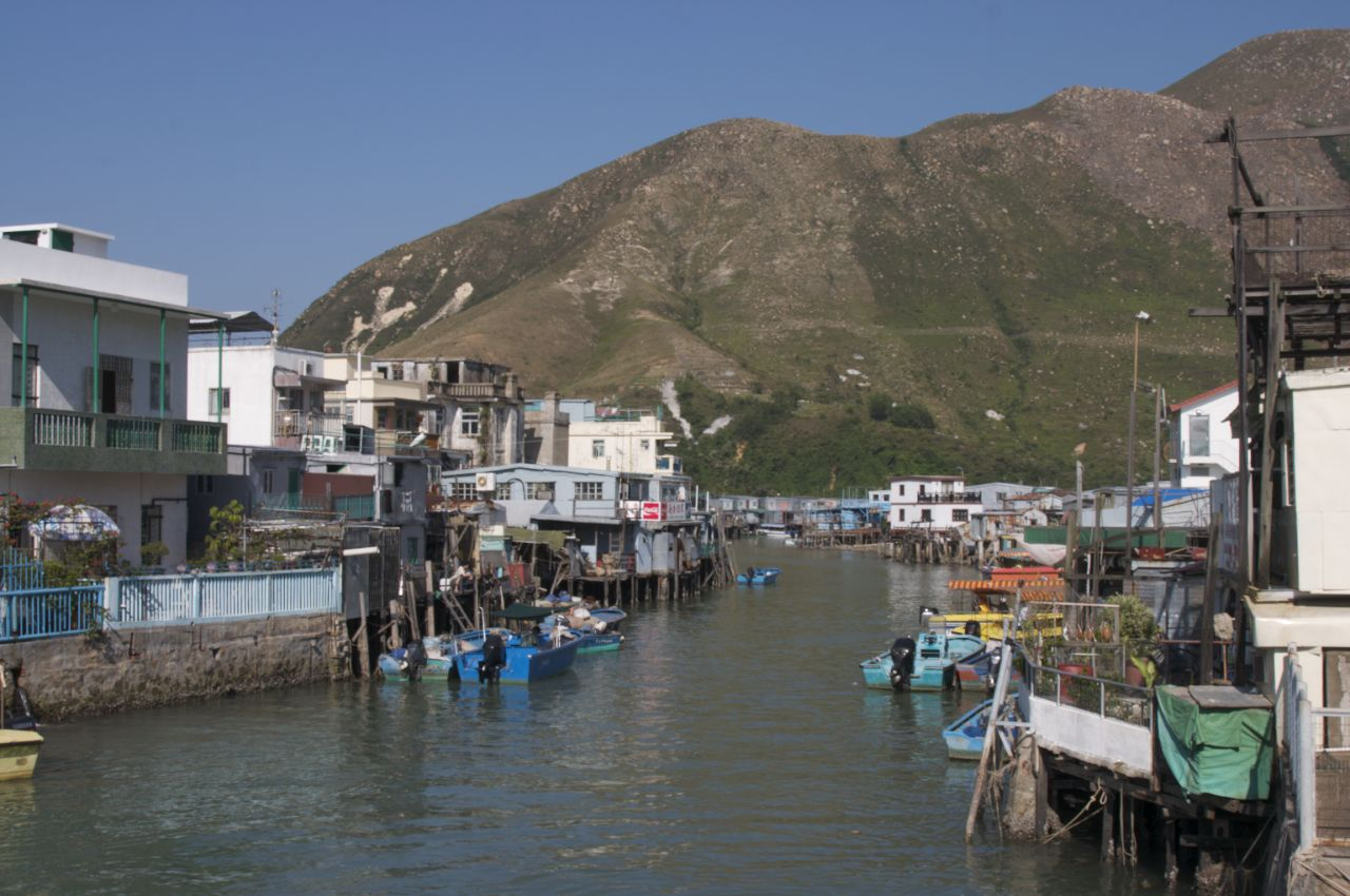 The fishing village of Tai O, with it's stilt houses