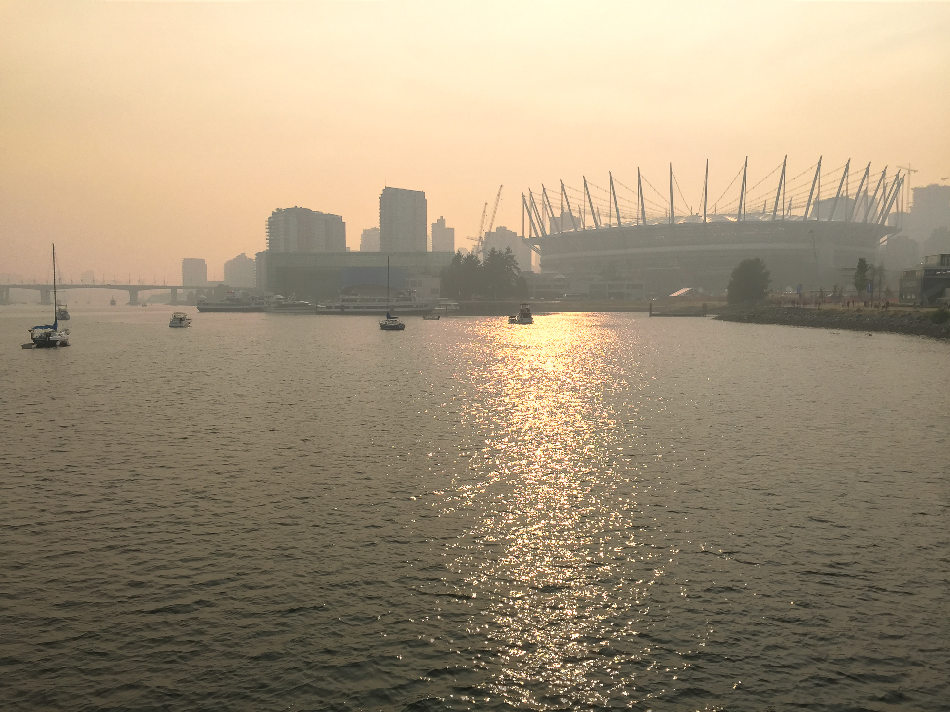 Crazy Smoke over BC Place