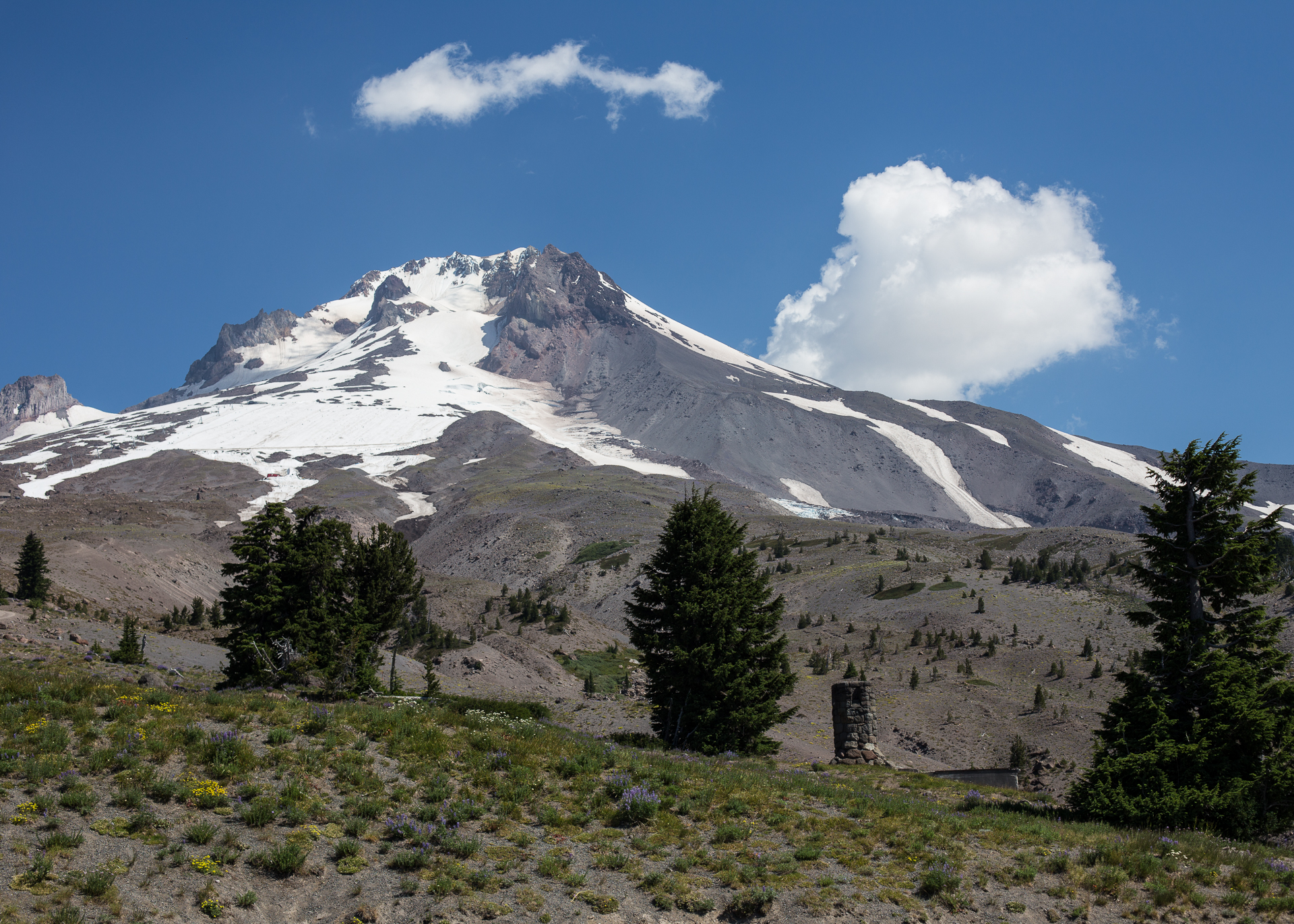 Mount Hood, from the Timberline Lodge parking lot.