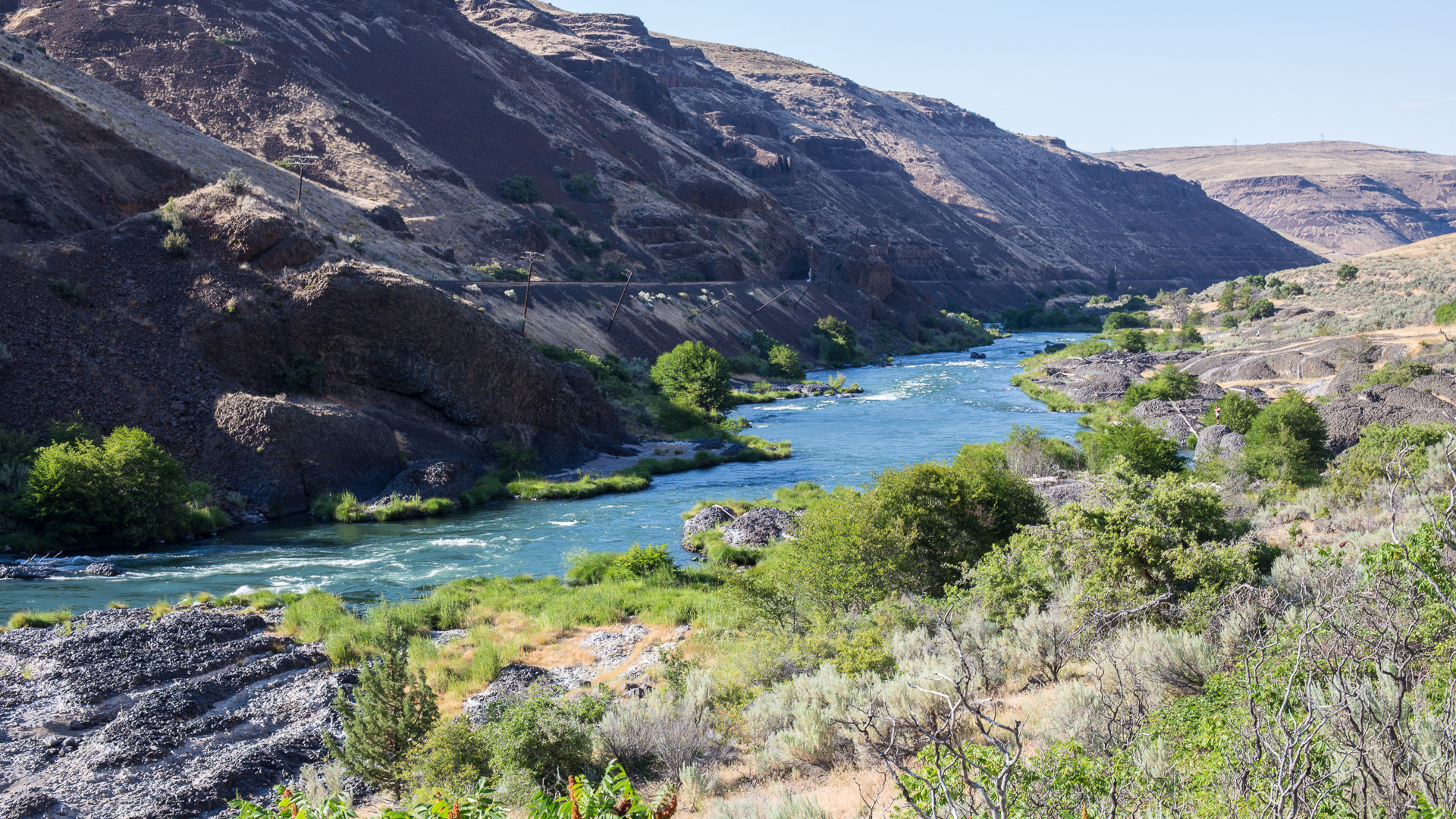 The gorgeous Deschutes River, and part of our journey.