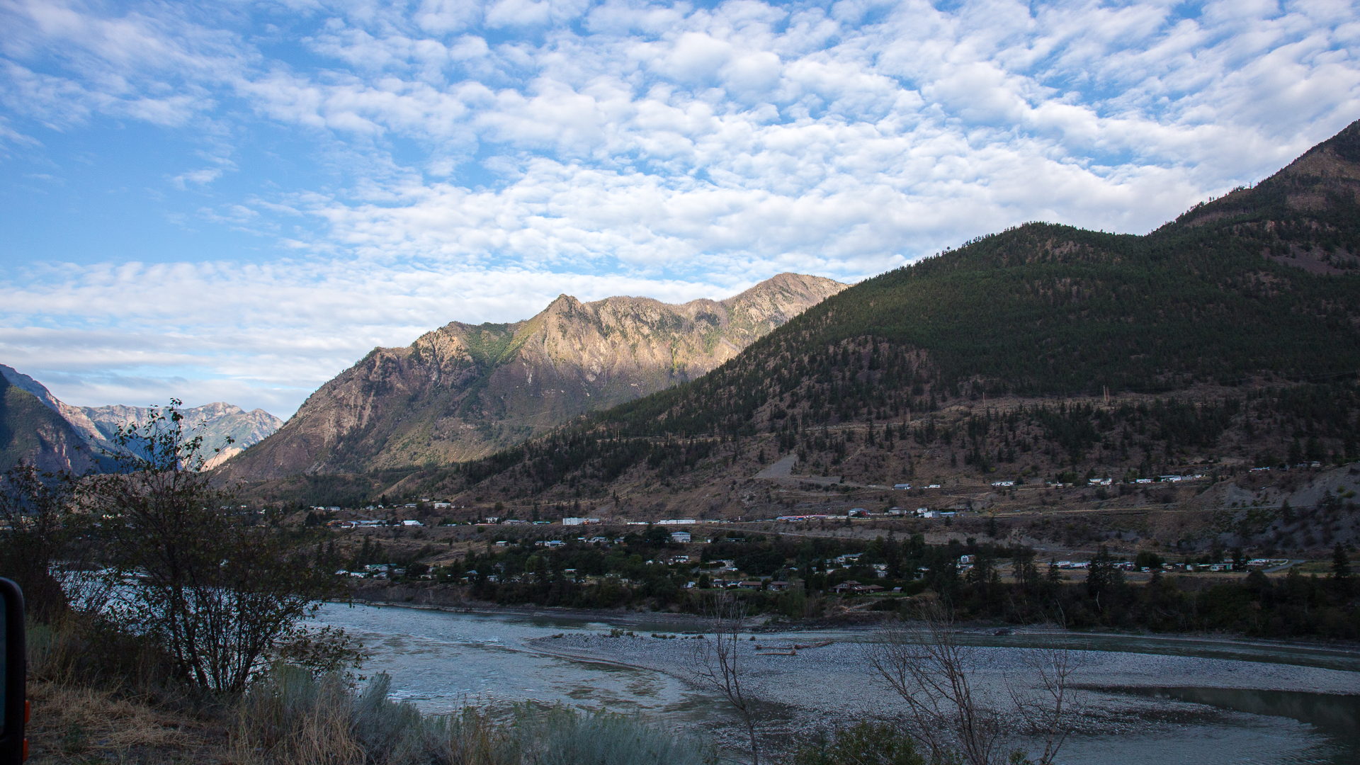 It was a nice start to the day in Lillooet
