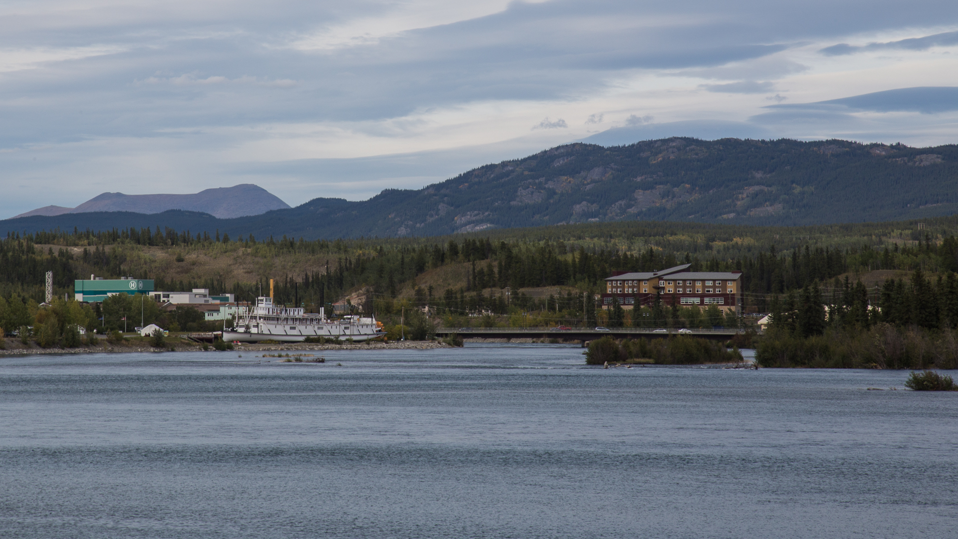 My first view of Whitehorse, coming into town.