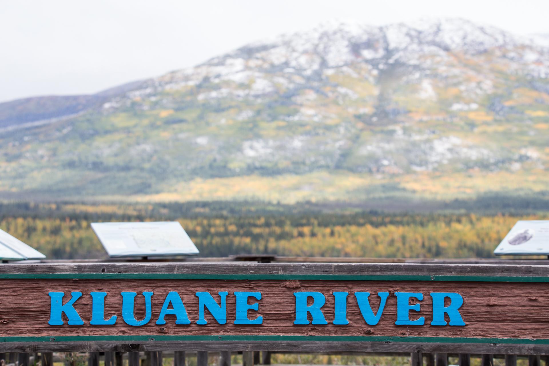 kluane river sign