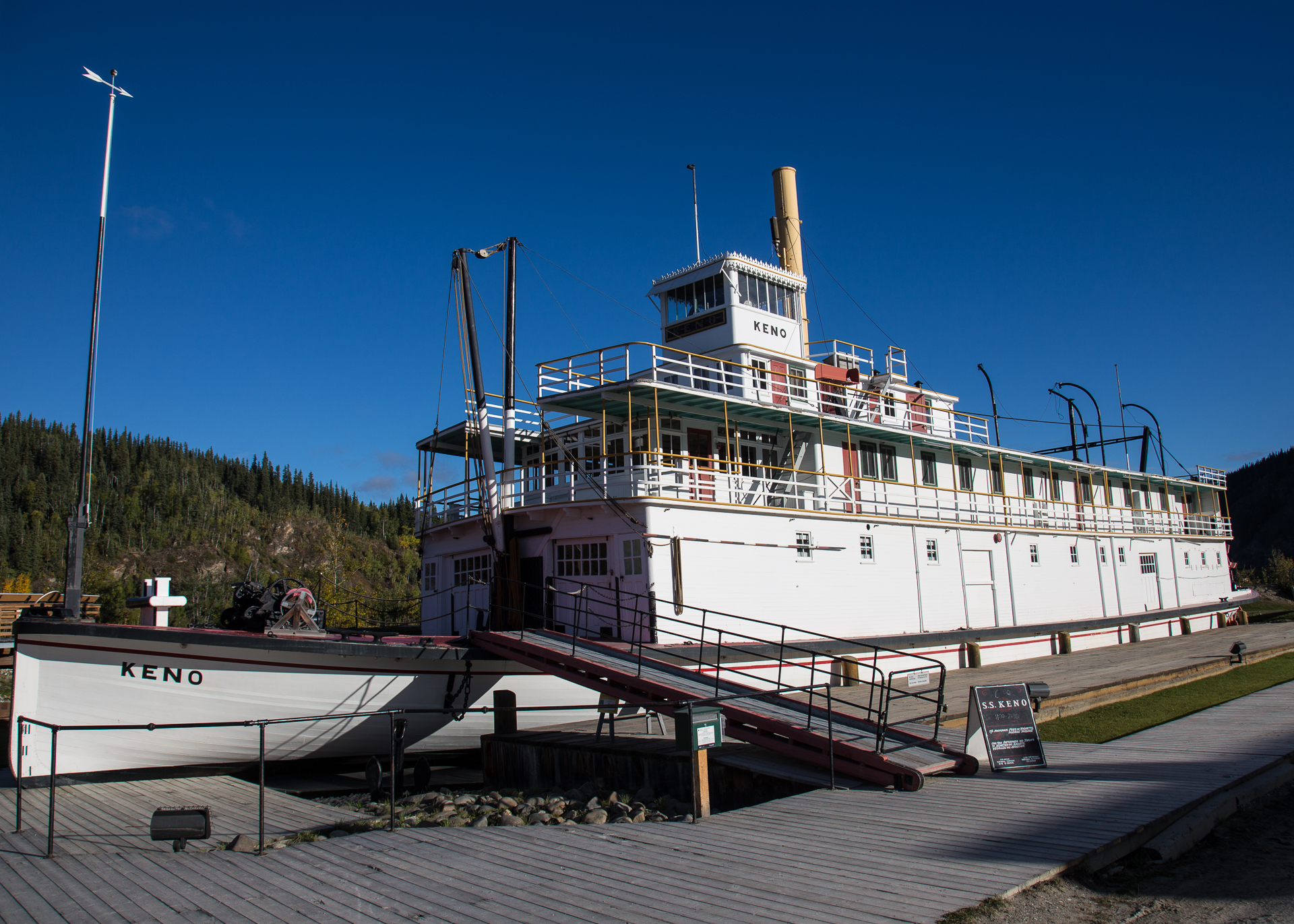 The Keno, one of the original paddlewheelers that worked the Yukon River in the gold rush days.