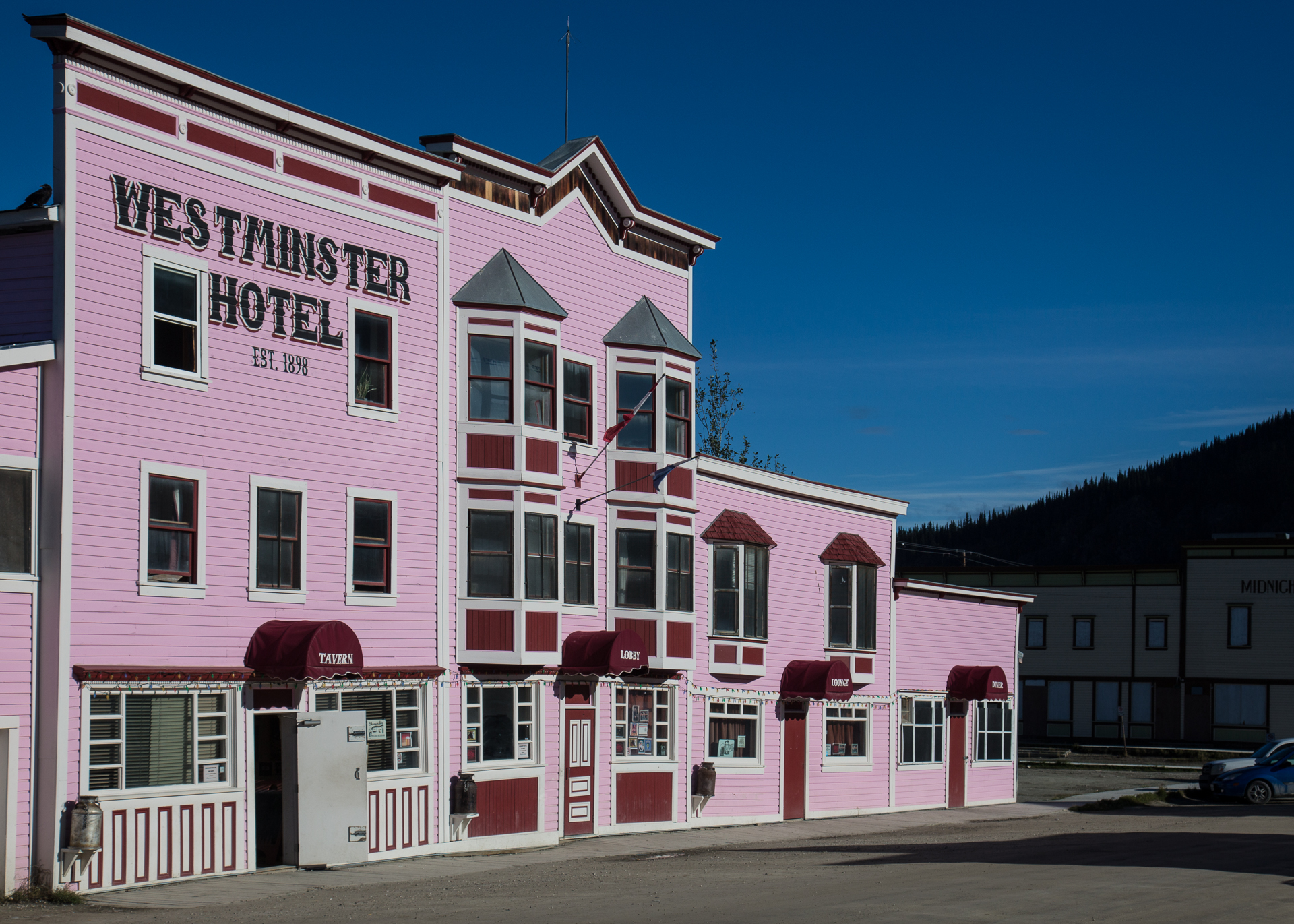 How do you not love a bright pink hotel?