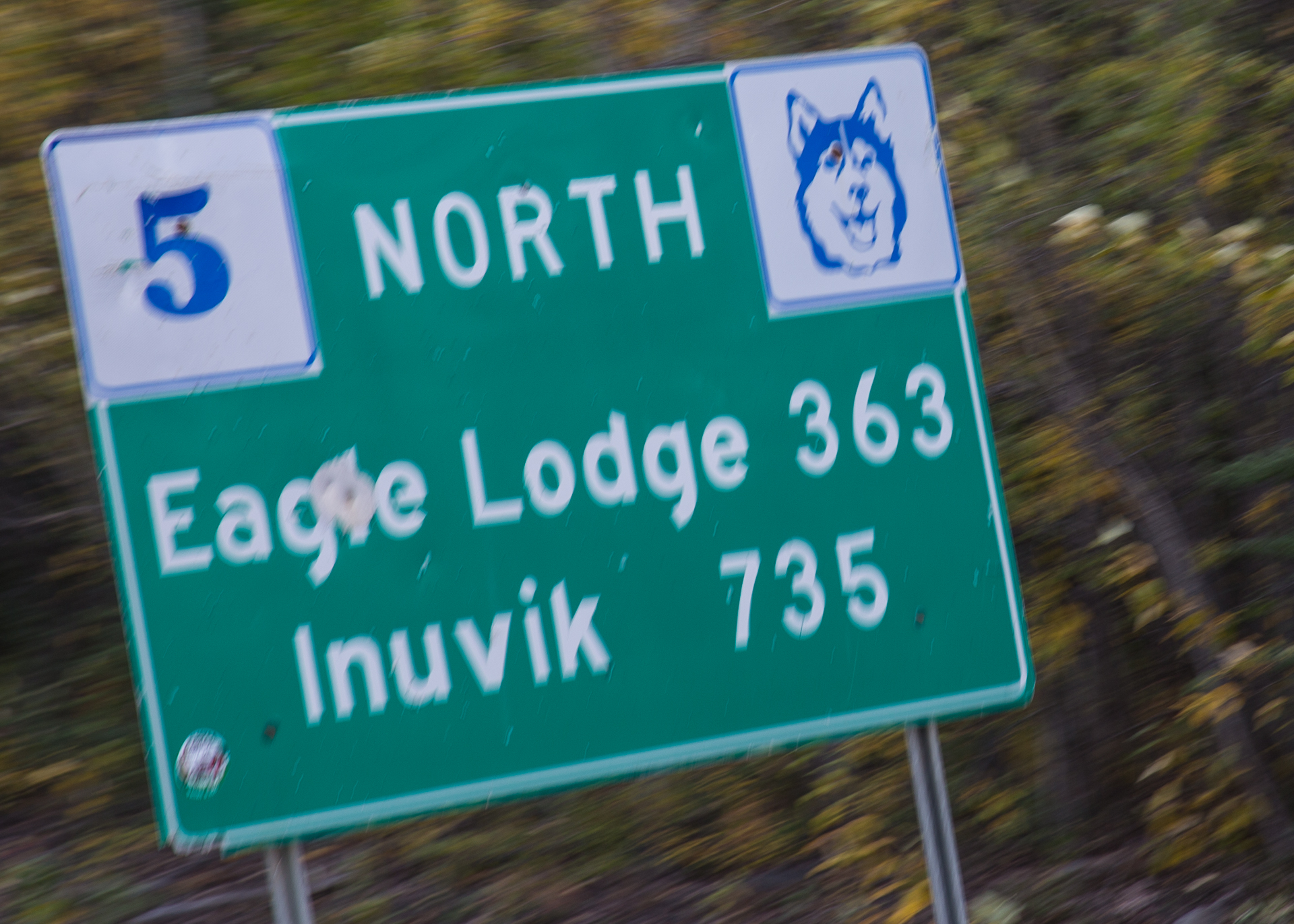 If we were to make it all the way t the Arctic Circle, we would have to go past Eagle Lodge, the only fuel between the start of the Dempster and Inuvik.