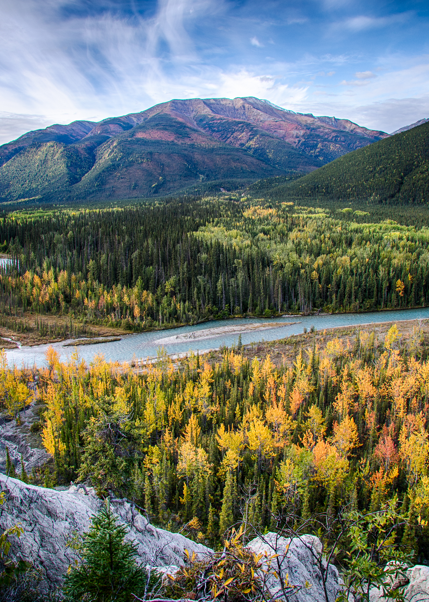 Fall colours in the valley, from the lookout.