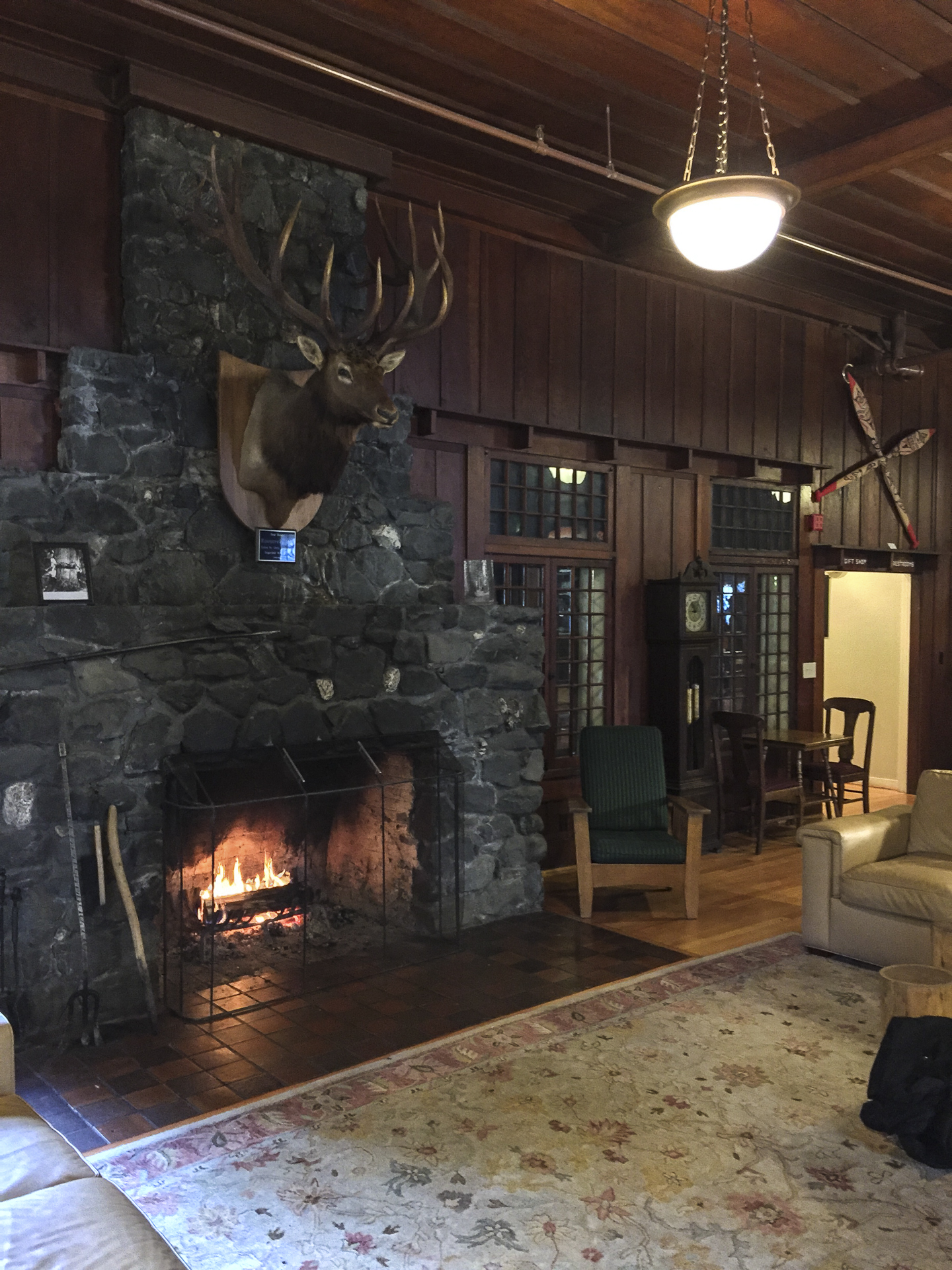 The Great Room at Lake Crescent Lodge.