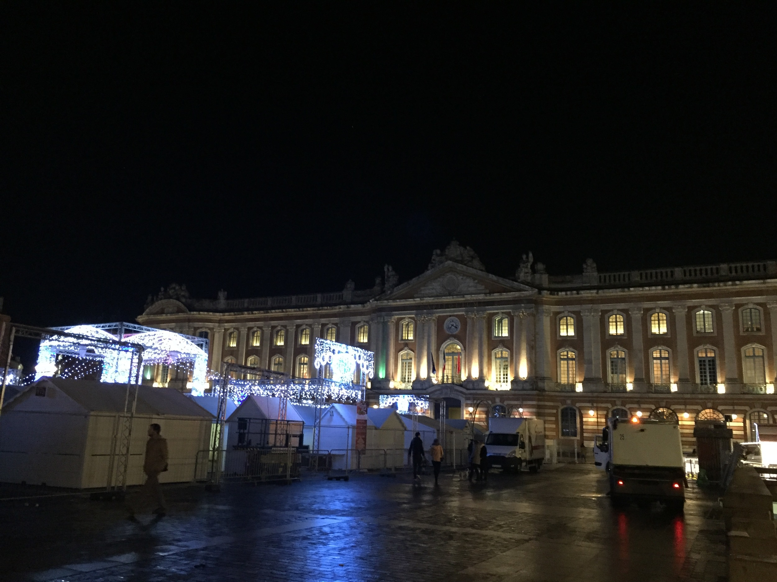 They were setting up a Christmas Market in the main square. Sadly, it didn't open until after we left.