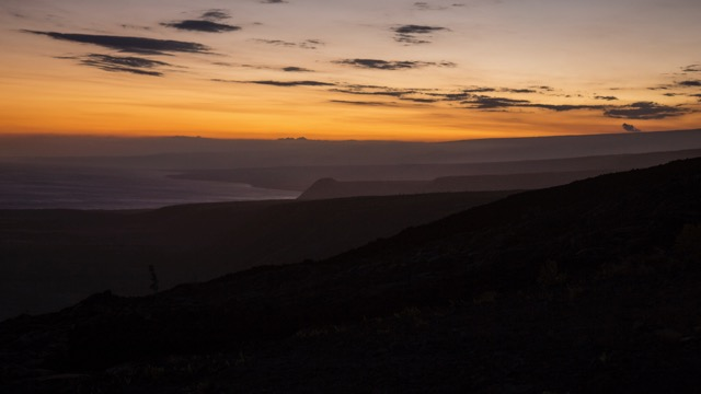 Sunset from the Chain of Craters Road