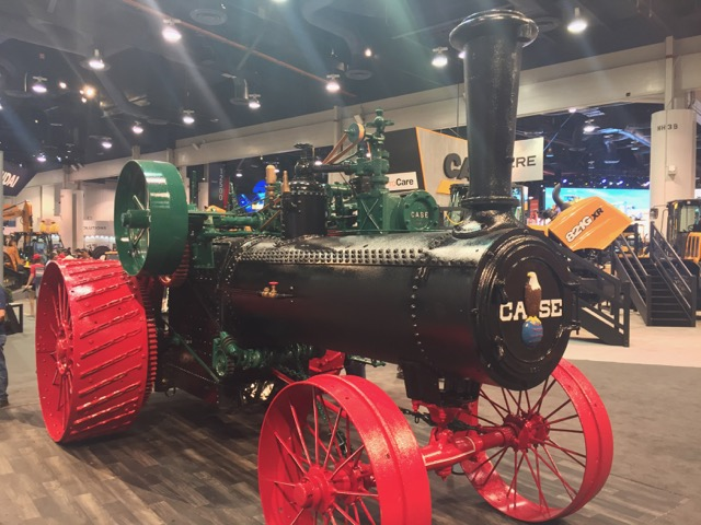 Probably the oldest piece of equipment at the show - a steam-powered tractor from 1913. At 75 hp, you have to imagine how crazy this thing must have been at the time.