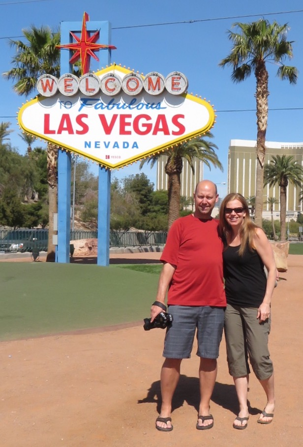 Justine and I by one of the most famous signs in the world!