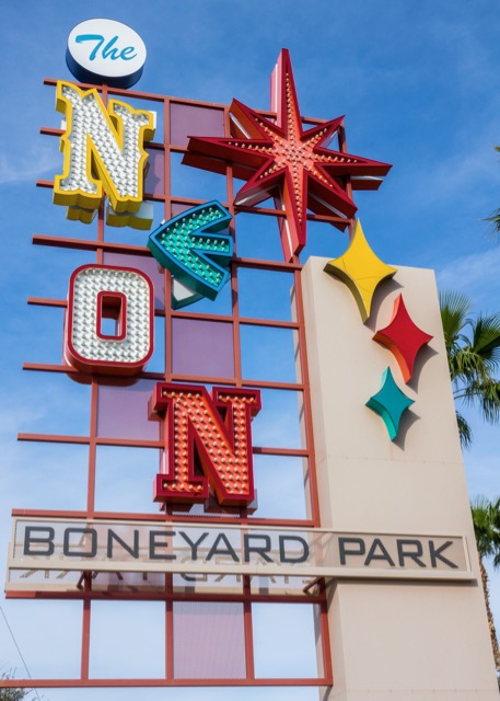 Each of the letters in the sign for the museum was styled after a letter in one of the famius signs from the Strip.