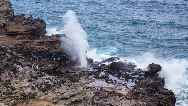 The Nakalele blowhole - look at the people for a sense of scale.