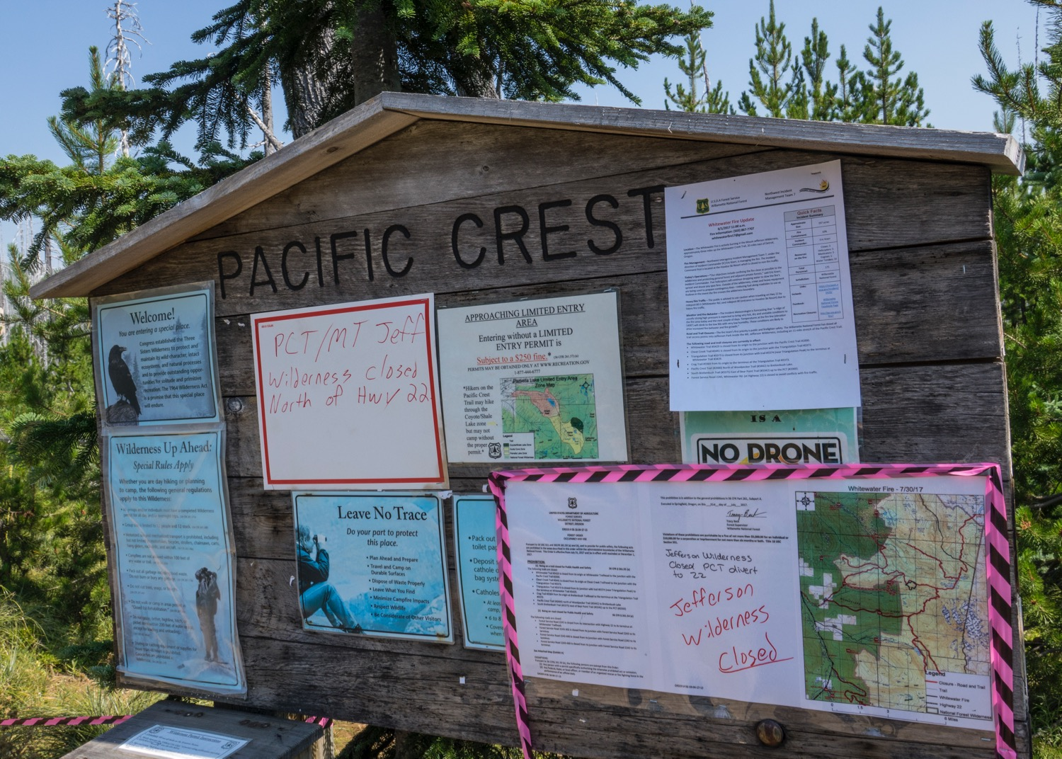 My goal to hike part of the PCT was foiled, as the whole area was closed due to the fires.