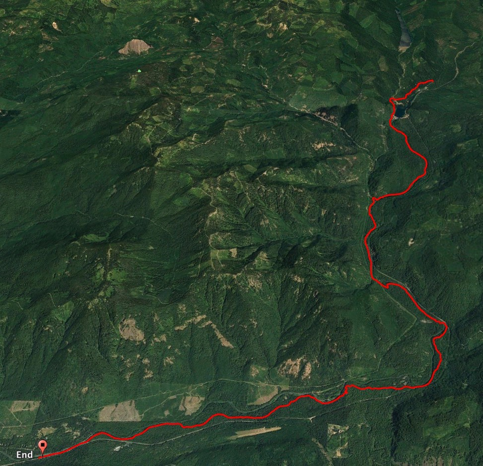 The map of our ride on the McKenzie River Trail