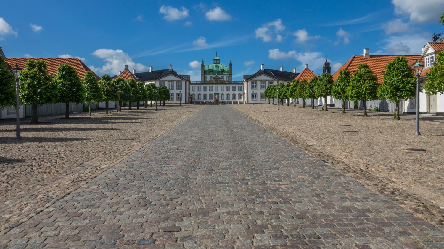 The long driveway up to Fredensborg Palace. The gates were open as the Royal Family was away.