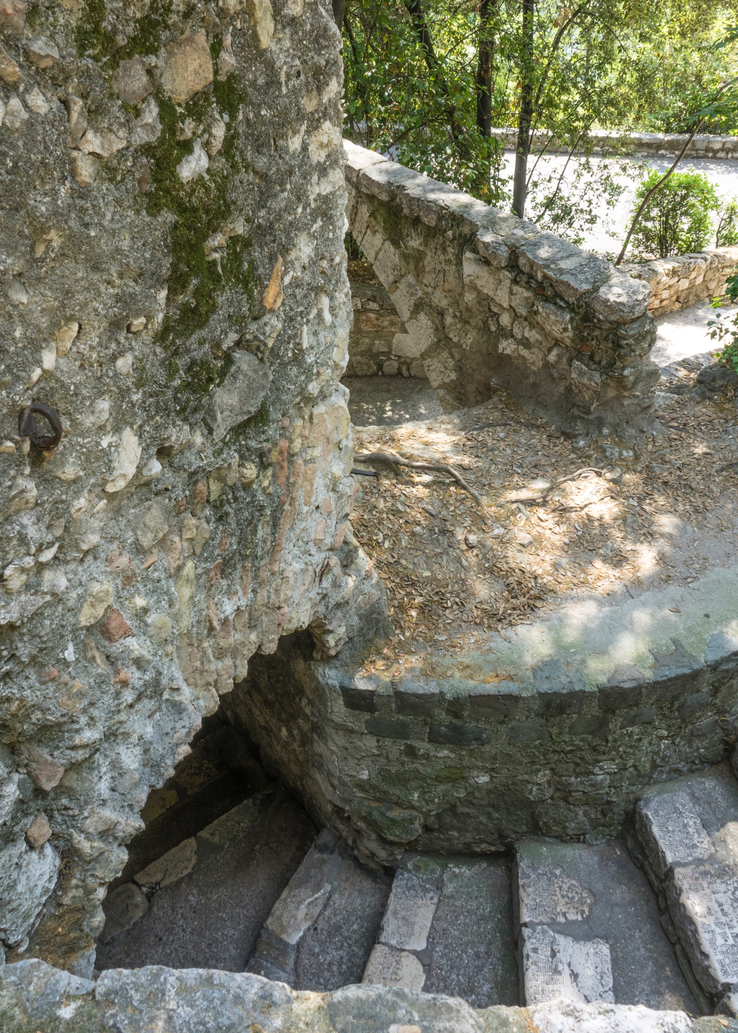 There were some original(?) fortifications left that you could explore