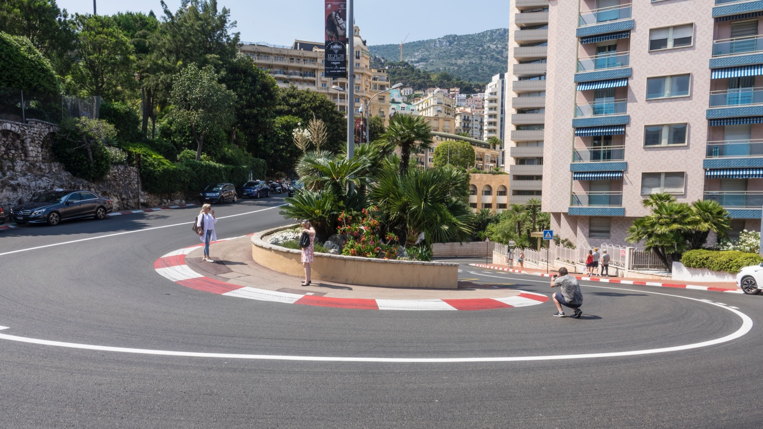 The iconic hairpin turn on the Formula 1 course