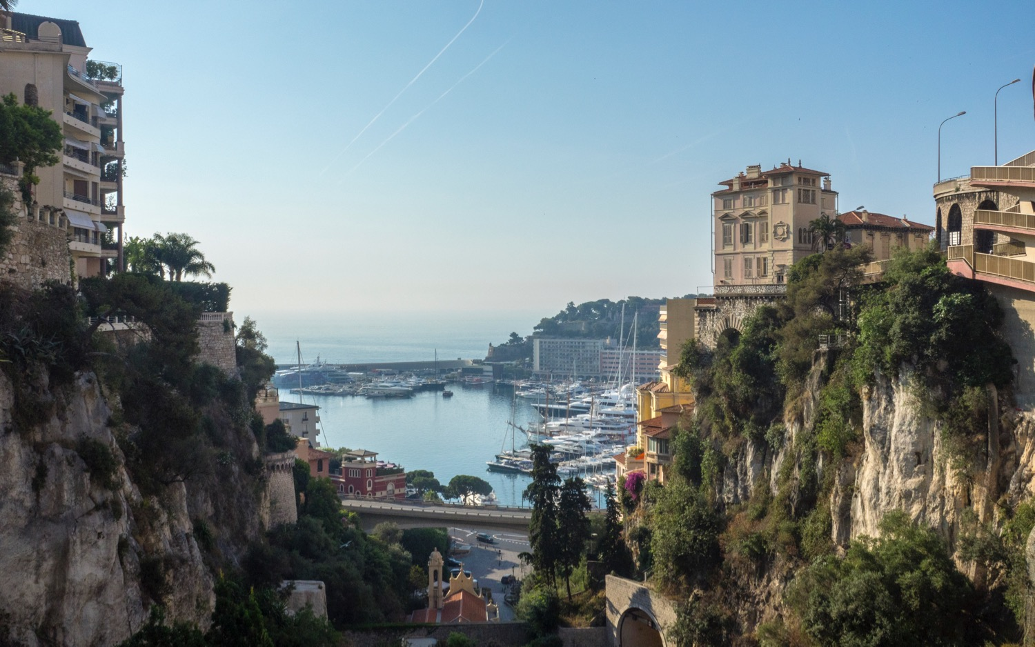 One of my first views out across Monaco - it's a beautiful city.
