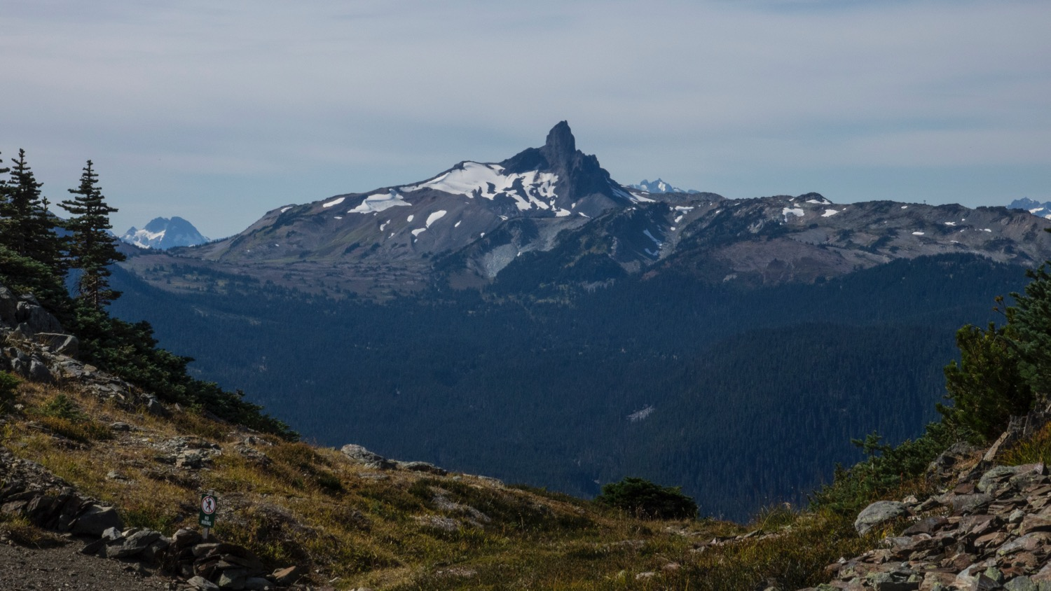 A great view out to Black Tusk