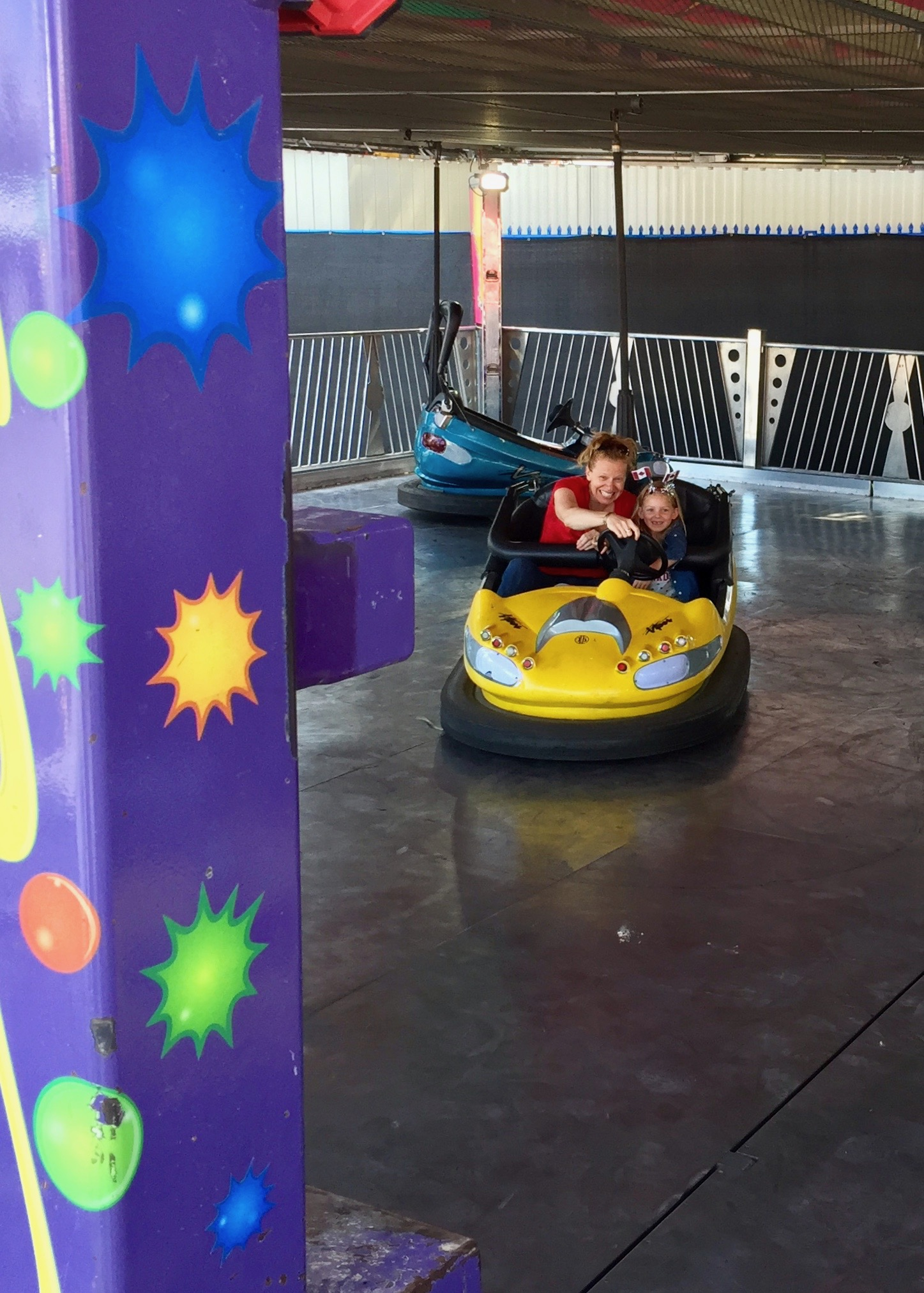Justine and Addison ruled the bumper cars