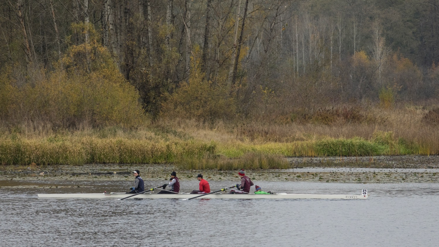 Her second race, later that afternoon was the lightweight Men's 4s.