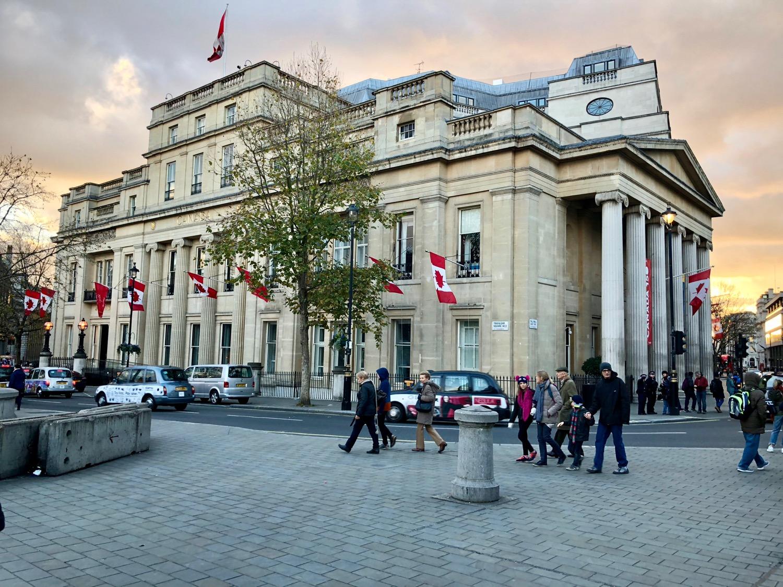 The Canadian Embassy in Trafalgar Square
