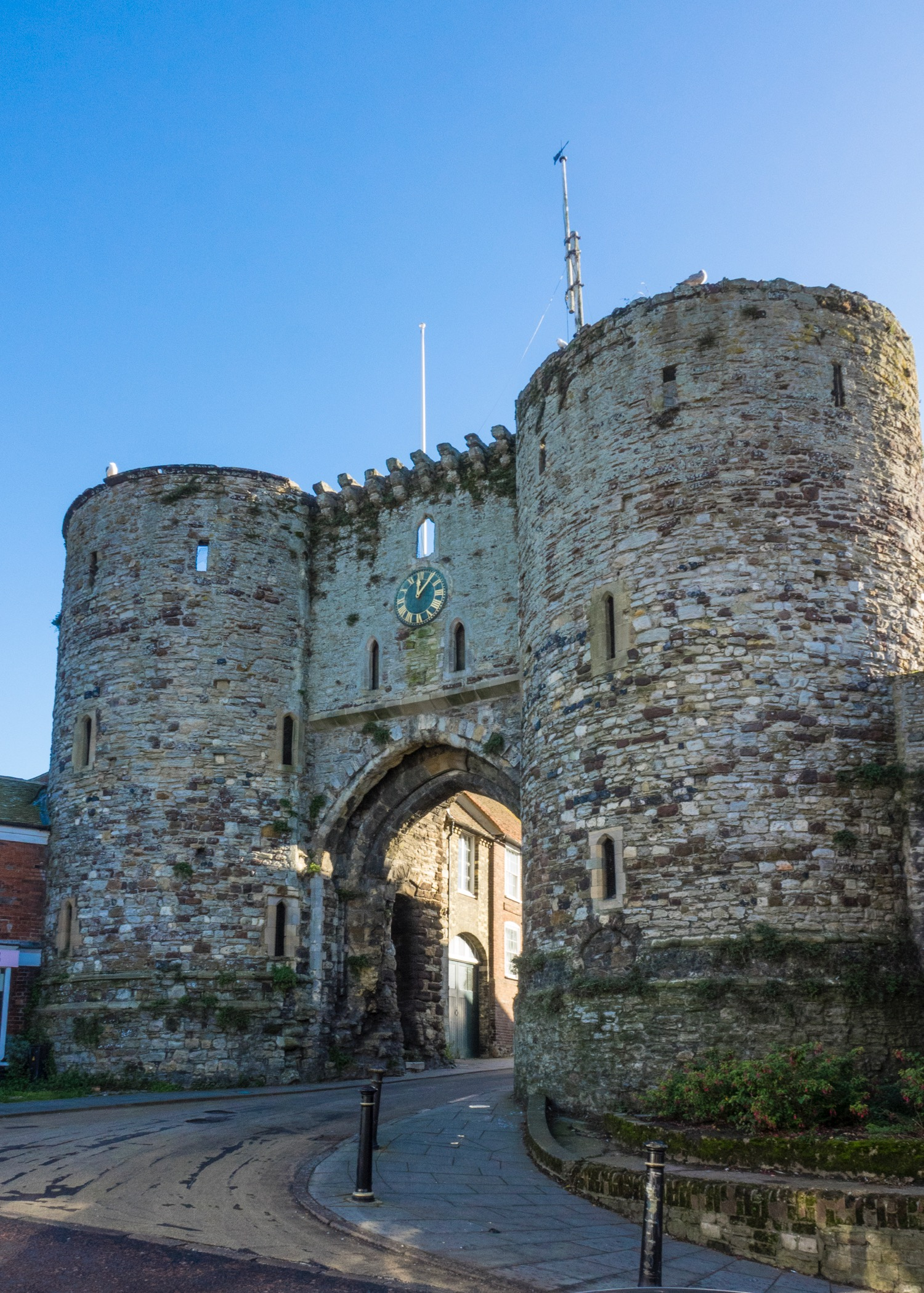 The old gates to the old city of Rye