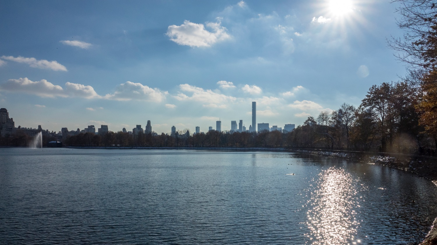 We entered the park close to the Jacqueline Kennedy Onassis Reservoir.