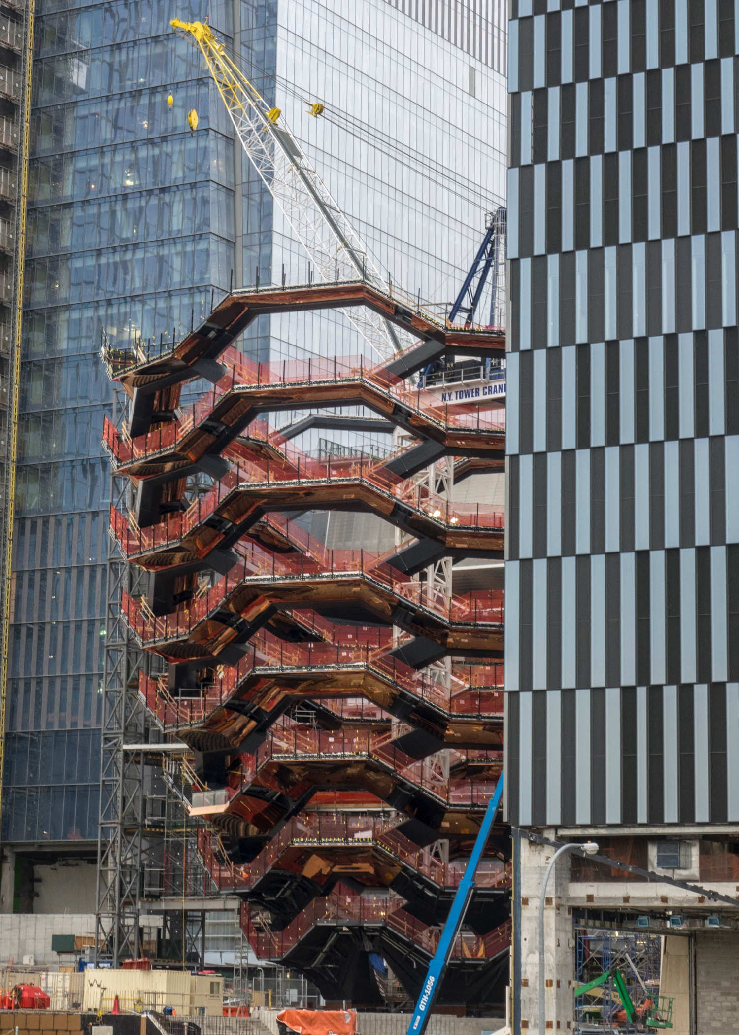 The Vessel, a Heatherwick Studio-designed structure that will rise 150 feet over 30th Street in Hudson Yards' public square.