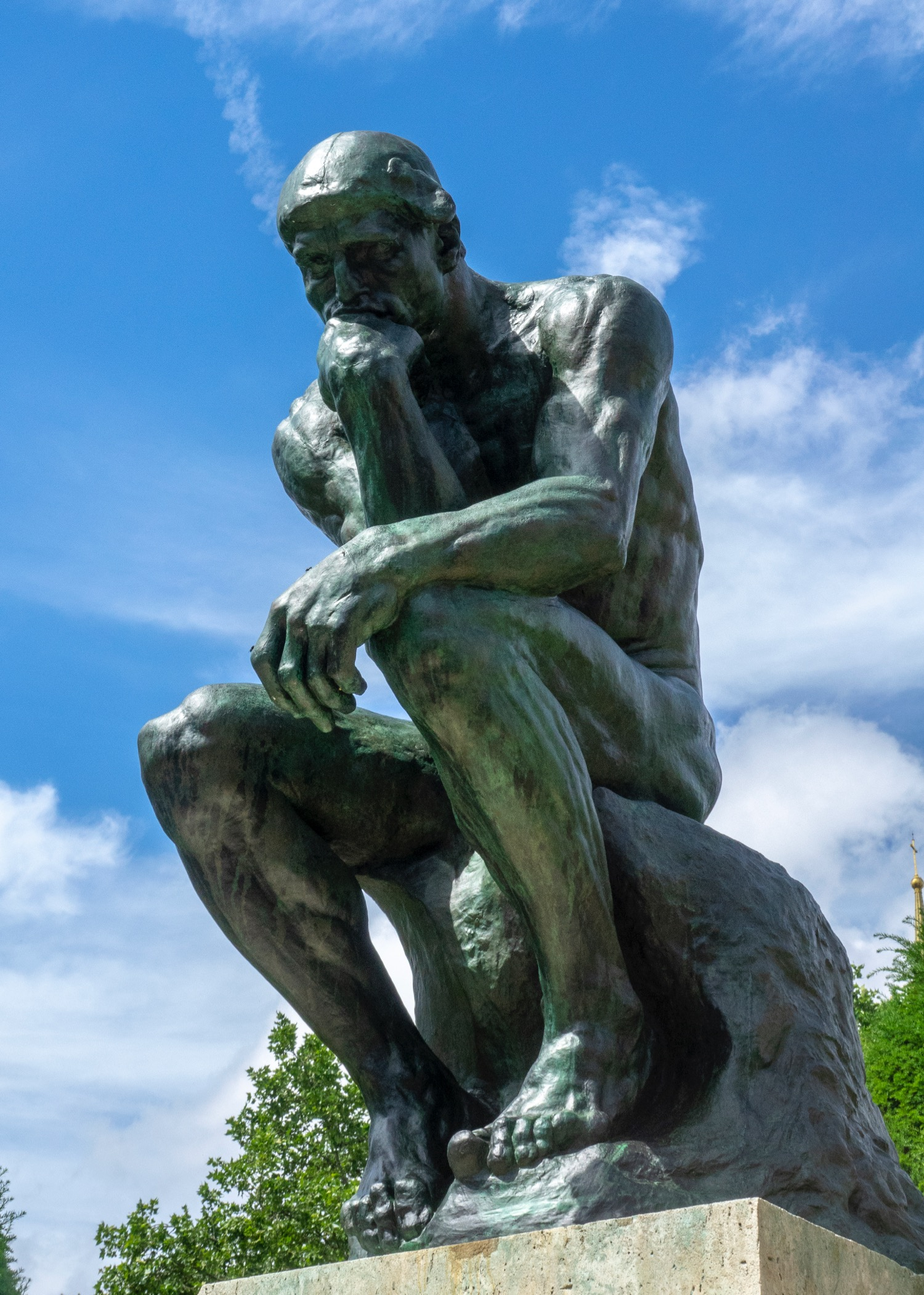 The Thinker, probably his most well known work.