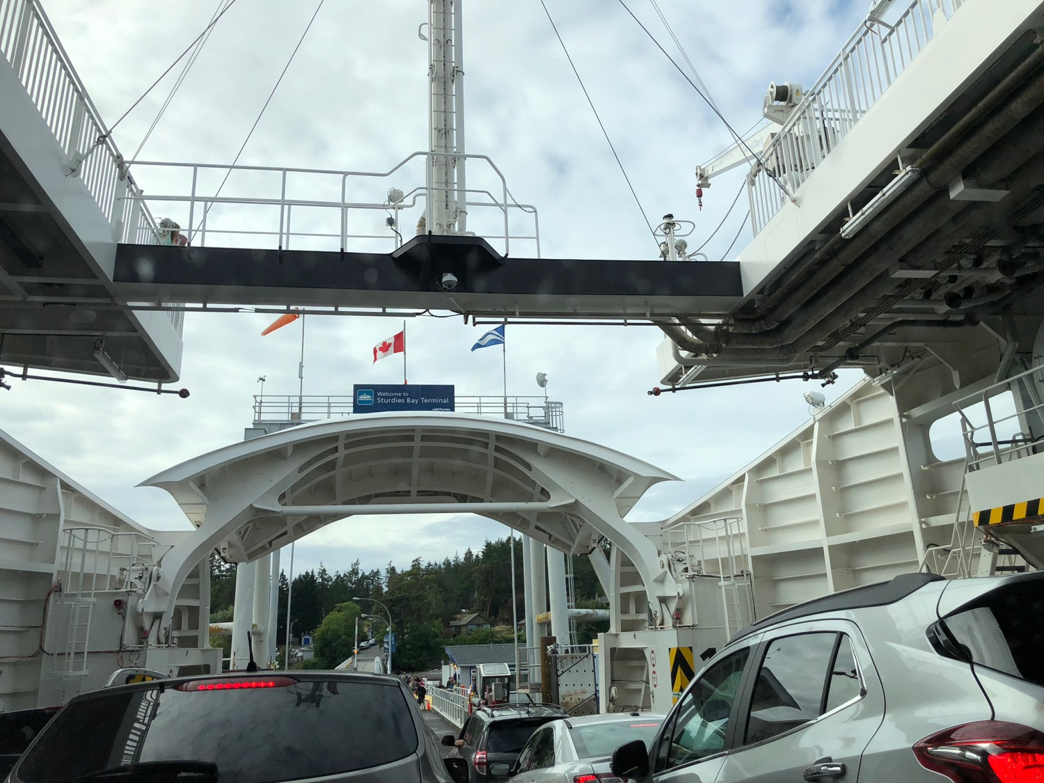 Welcome to Sturdies Bay – the ferry dock at Galiano Island!
