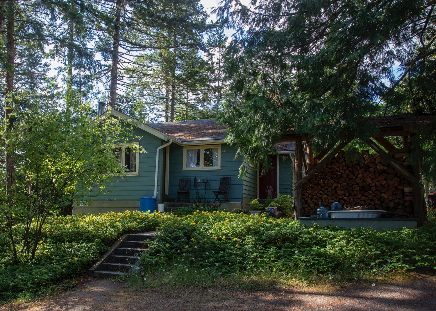 The cottage we spent the weekend at, on Galiano Island.