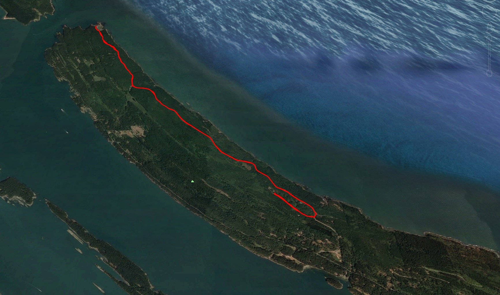 A Google Earth map of our ride