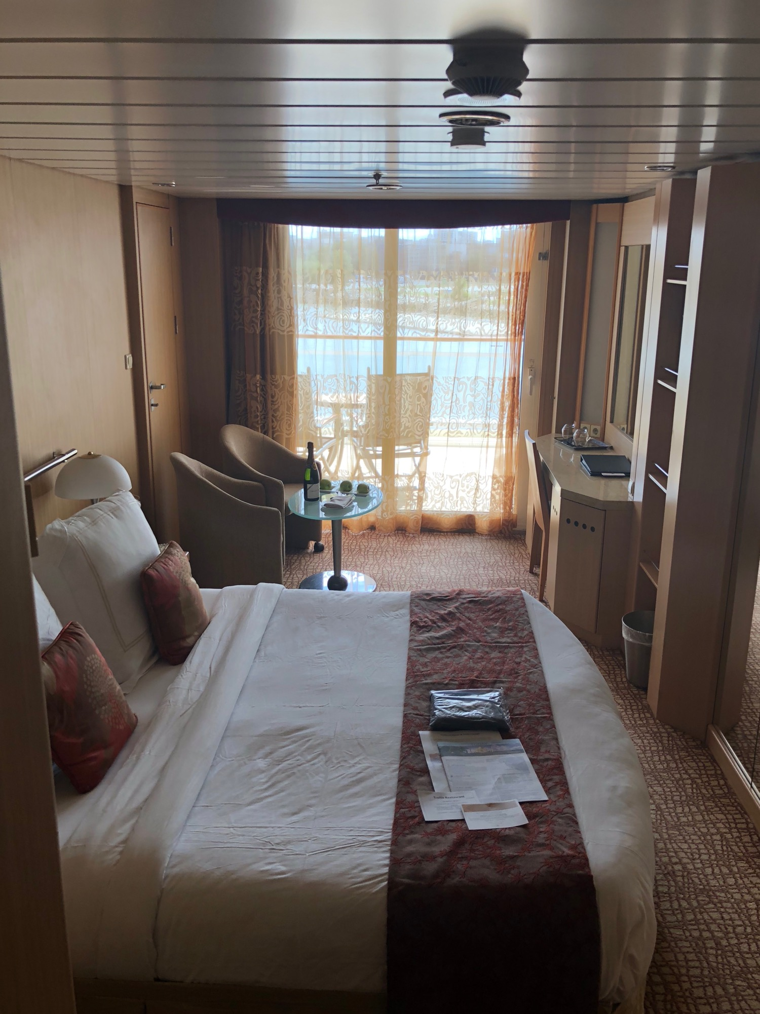 """Justine had upgraded us to a balcony suite as part of our """"Concierge Class"""" package..."""