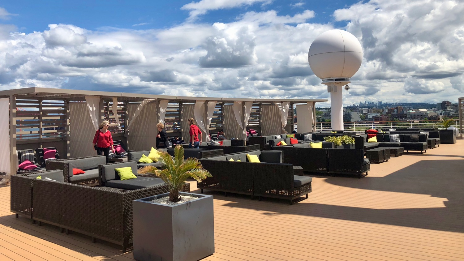 The rooftop terrace on deck 12 where we watched many of the World Cup games.