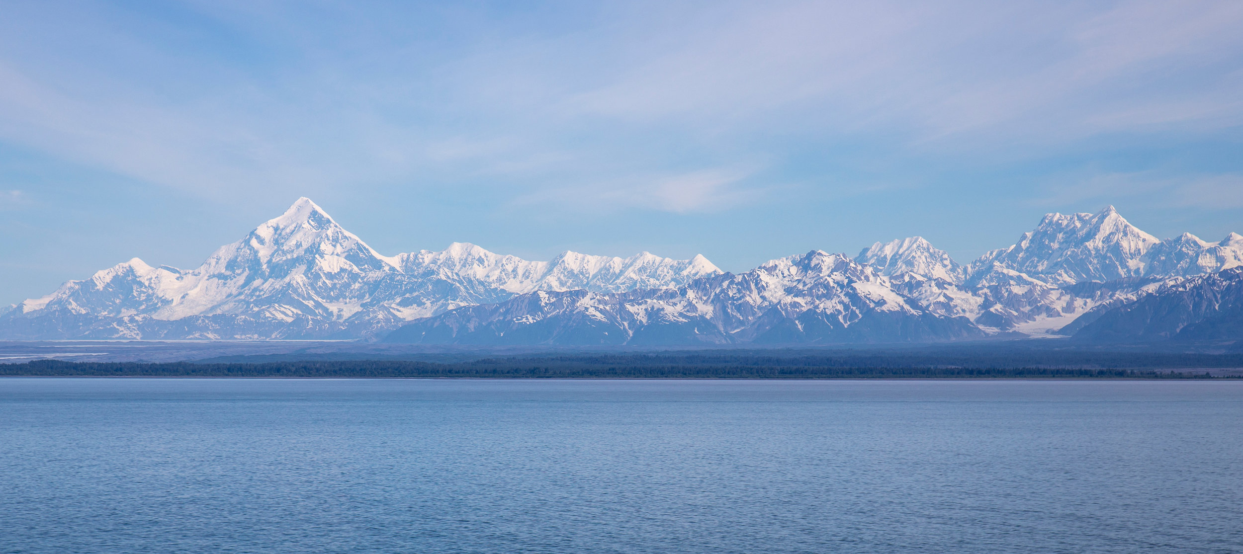 One of the first views that greeted us that morning was Mount Elias and the surrounding range.