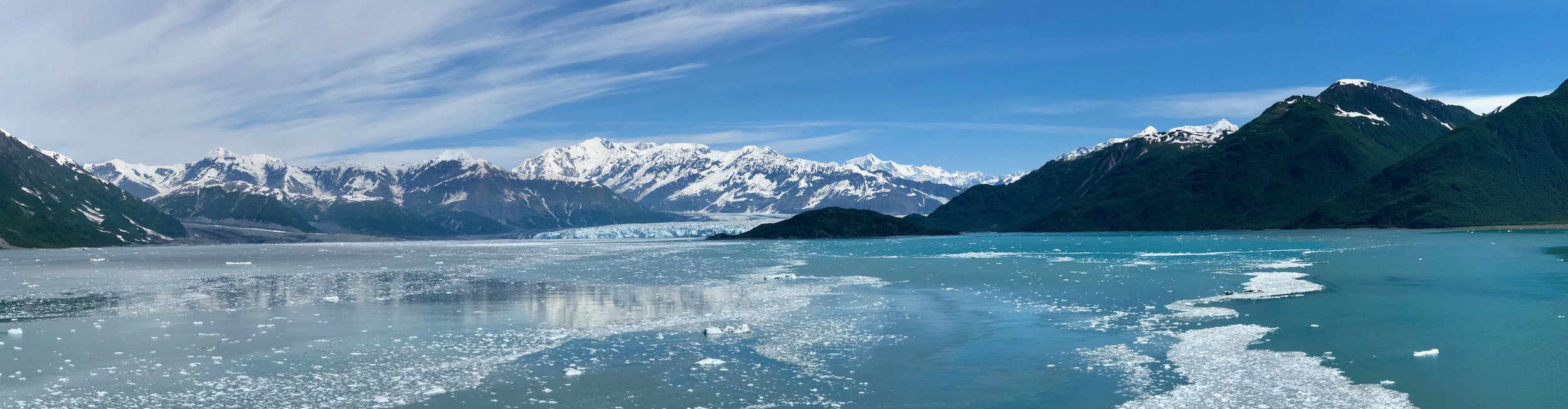 The captain did an amazing job getting the ship through the tide line, and into the ice to get us close to the glacier.