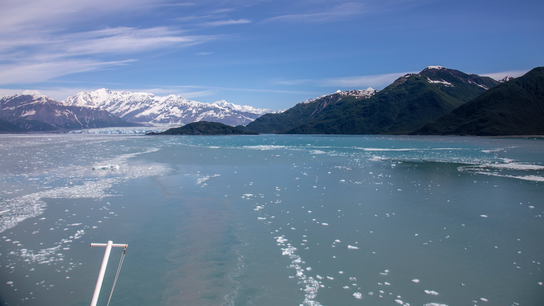 Looking back at the Hubbard Glacier and Disenchantment Bay as we headed back south.