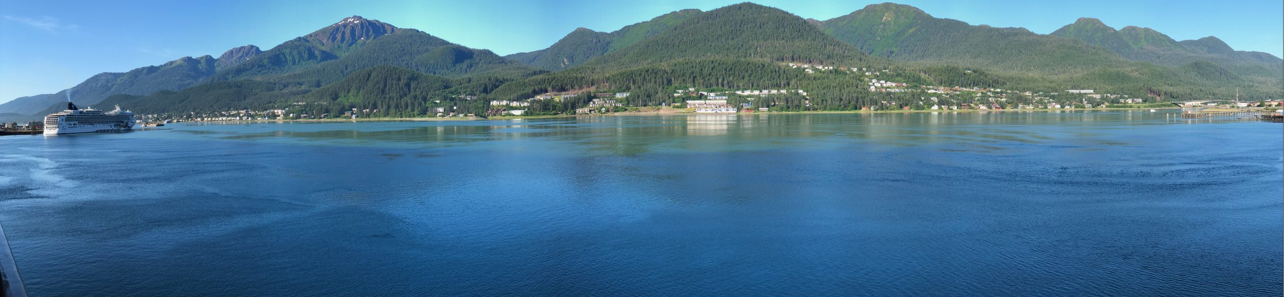 This was the view we woke up to, after docking in Juneau during the night.