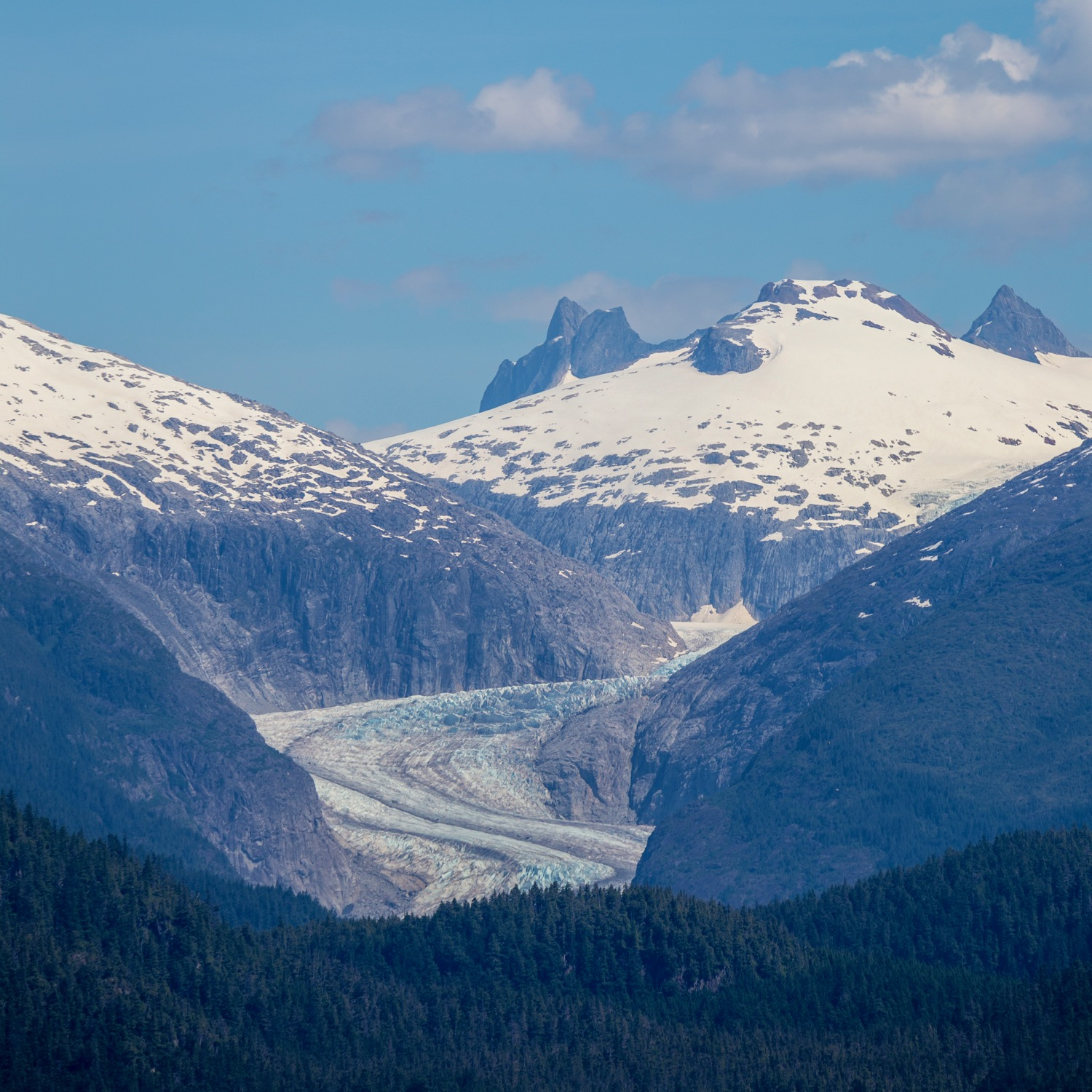 I don't remember the names of the various glaciers, but this was pretty typical of the scenery.