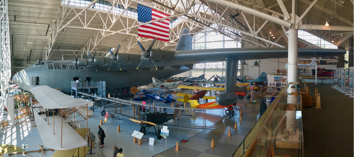 The Spruce Goose - the biggest plane ever built, and the reason we wanted to see the Evergreen Air and Space Museum.