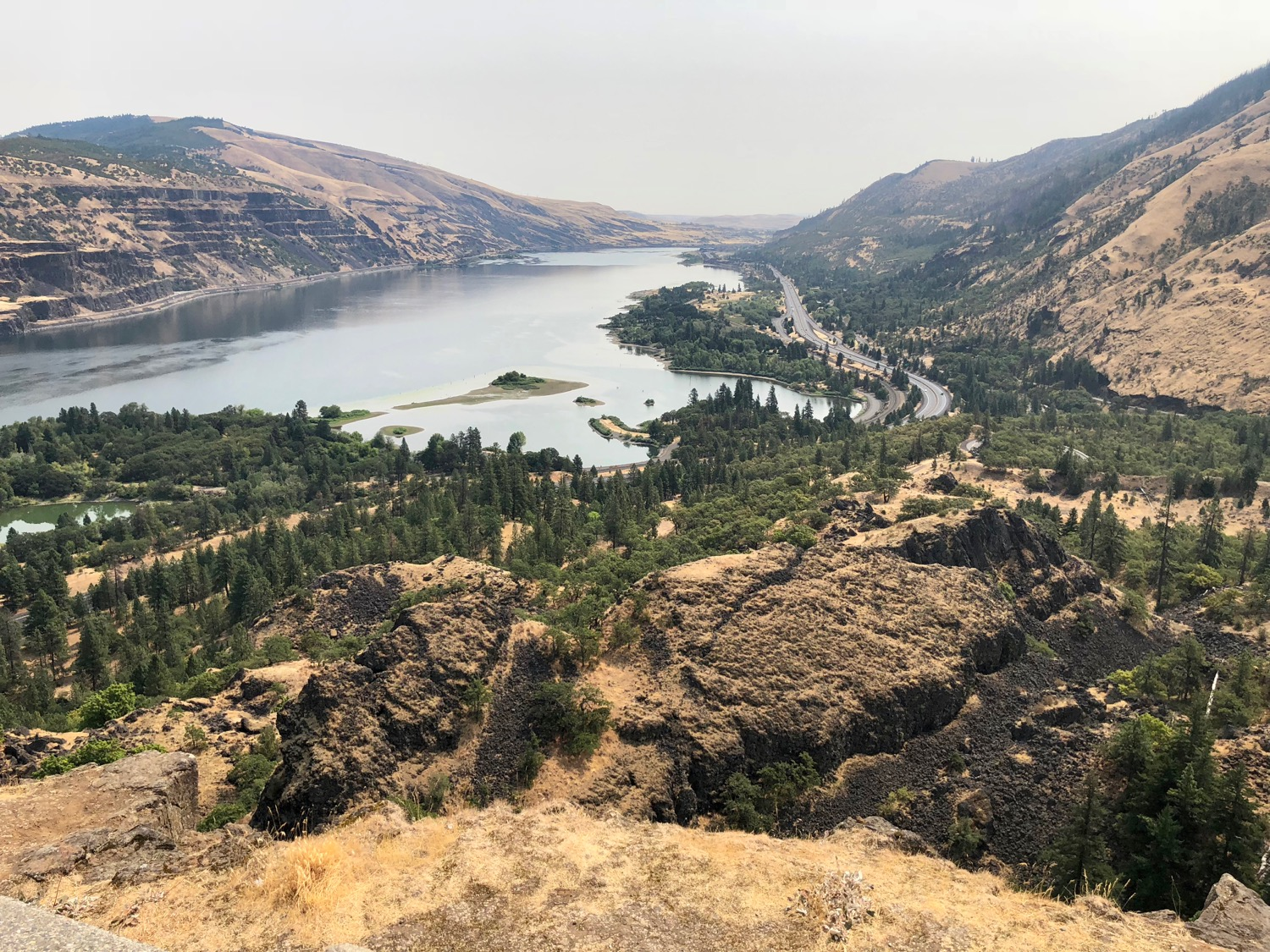 The view from the top of Rowena Loops.