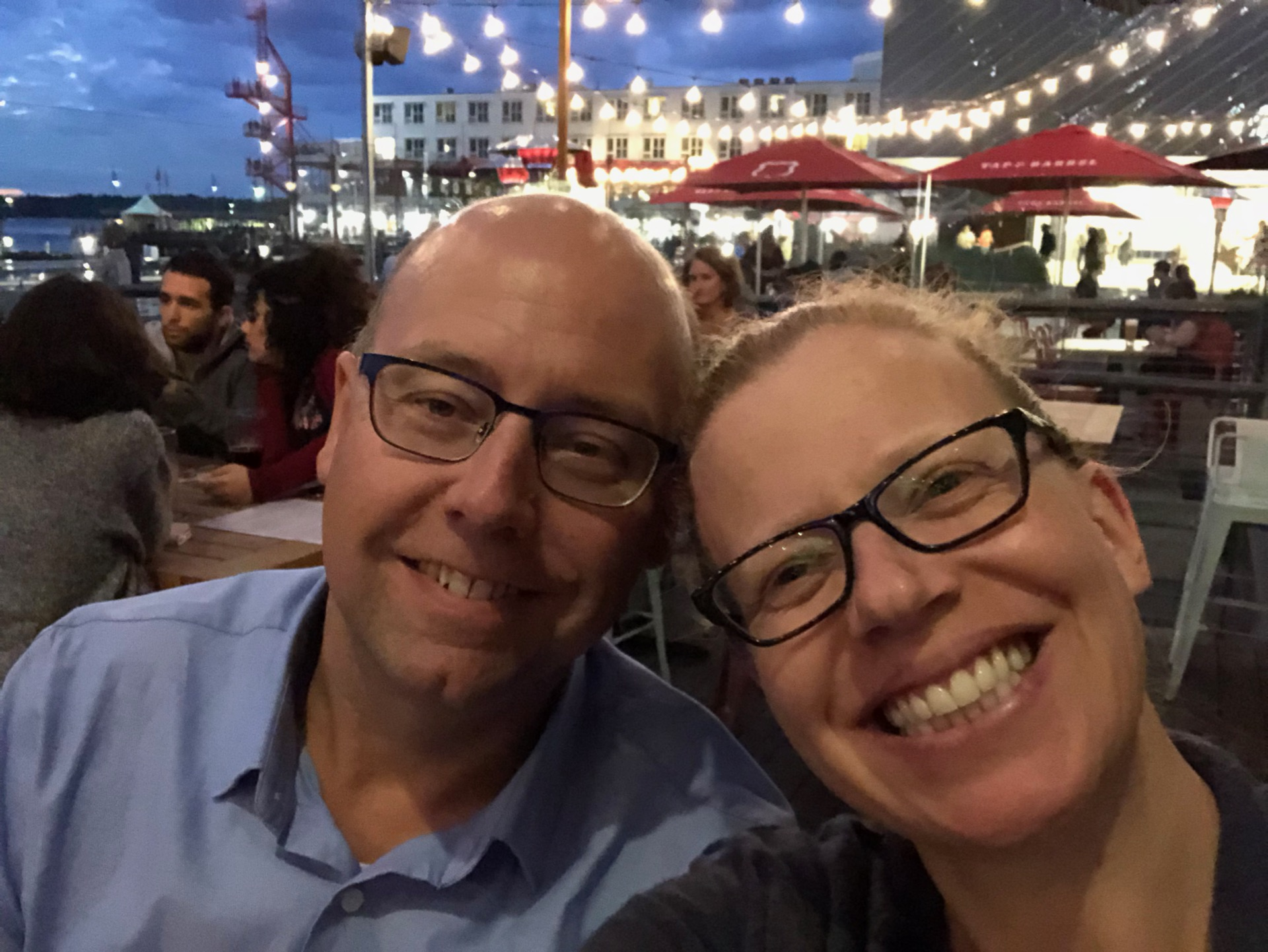 We had a fun night, and wrapped it up with dinner on the patio.