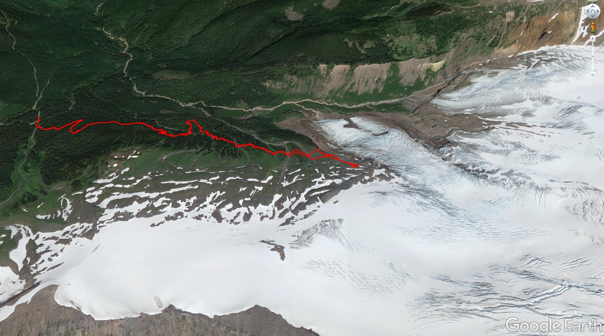 Our hike up the Heliotrope Ridge Trail