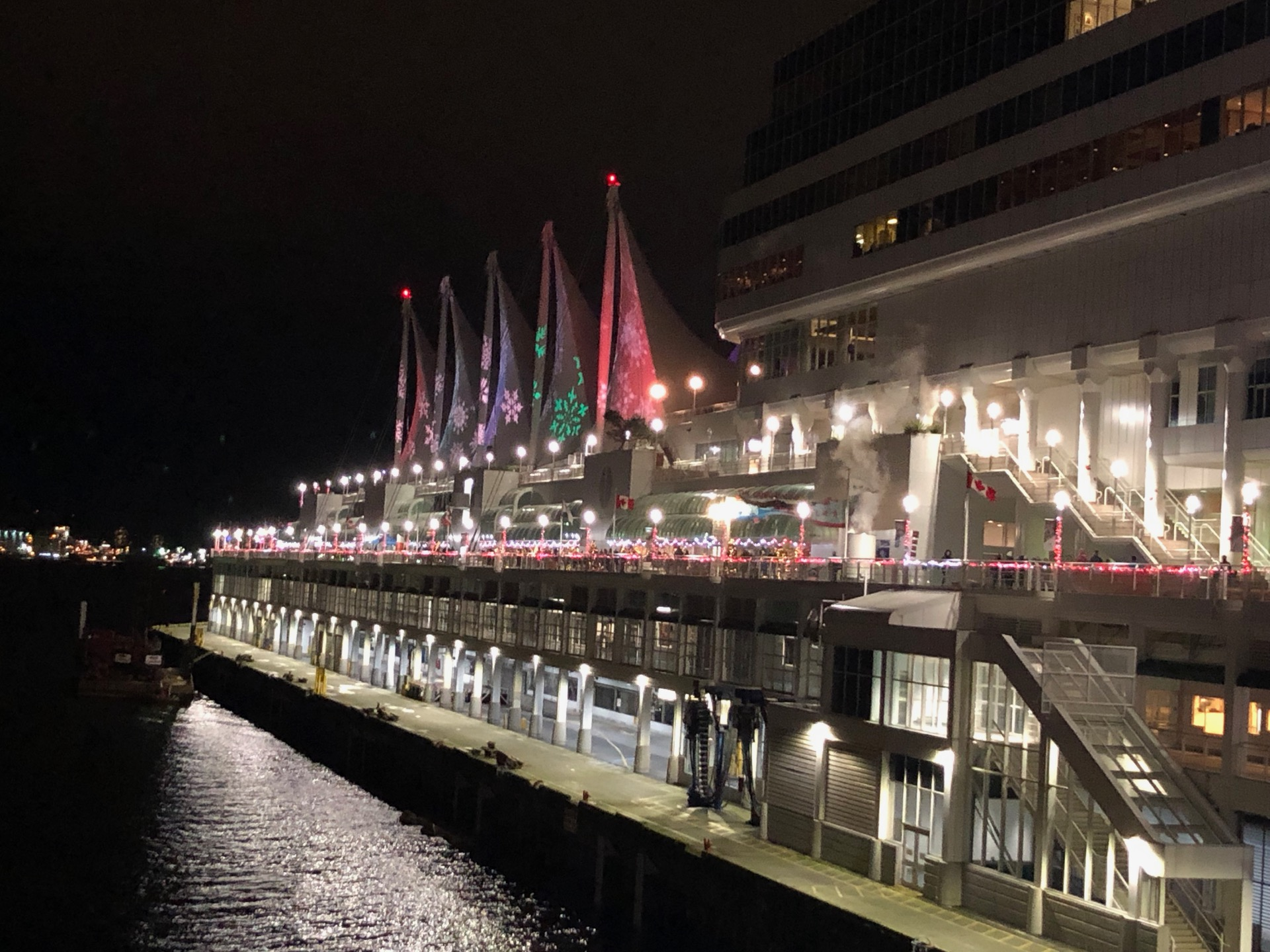 Canada Place all lit up